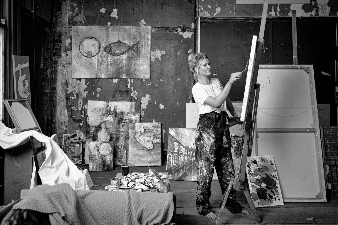 Anna Mckeever Artist in Studio